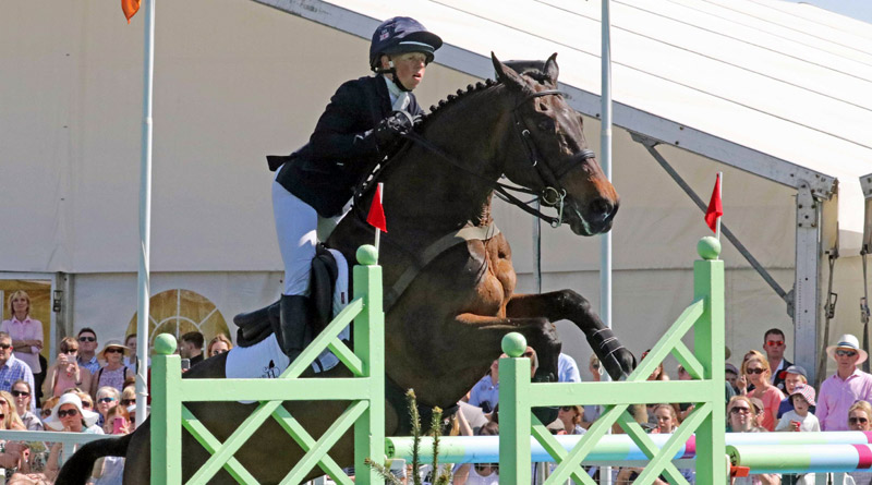 Ros Canter and Allstar B held third place throughout the competition, only missing out on moving up to second after taking a rail in the final phase.