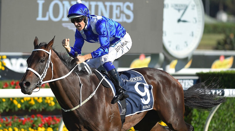 Winx won her 25th consecutive race in the Queen Elizabeth Stakes at Randwick in April 2018.