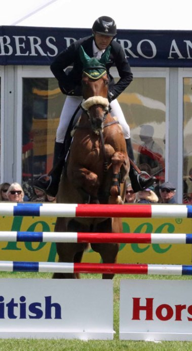 Bill Levett and Lassban Diamond Lift moved up from 10th after dressage to take third place in the CCI3* at Bramham.