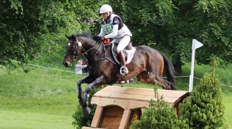 Gwendolen Fer and Romantic Love were second in the CIC3* at Bramham.