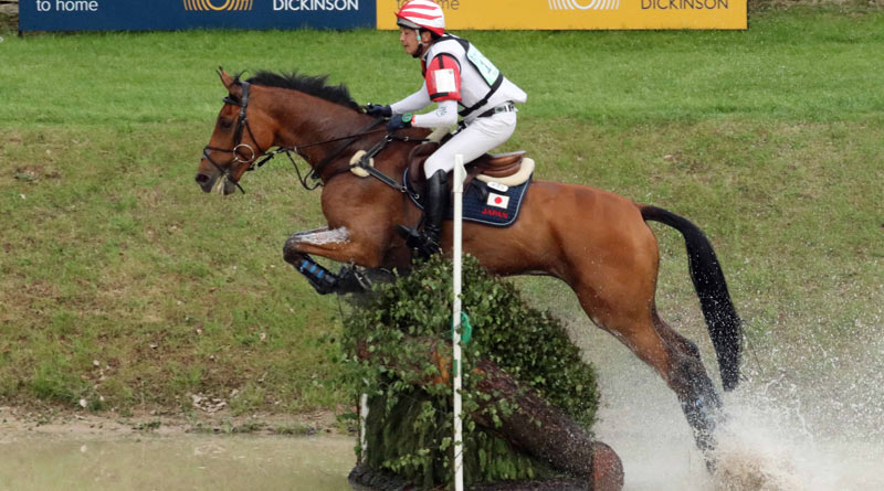 Japan's Toshiyuki Tanaka and Talma D'Allou finished third in the Bramham CIC3*.