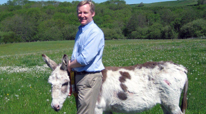 Professor Stuart Reid, chairman of trustees at The Donkey Sanctuary.