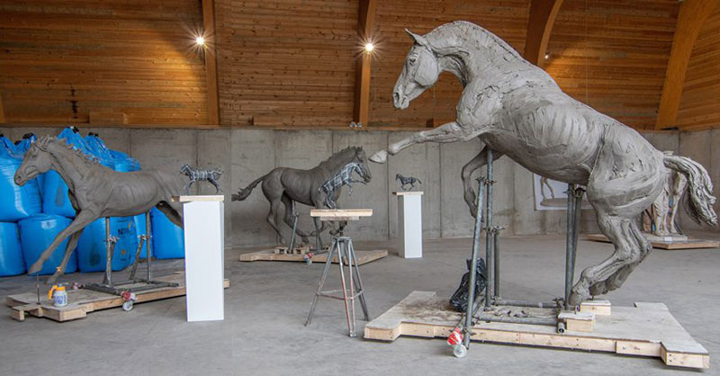The sculptures by Amy Goodman will be sited on the new Nine Mile Ride Extension roundabout at the Arborfield Green estate in Berkshire.