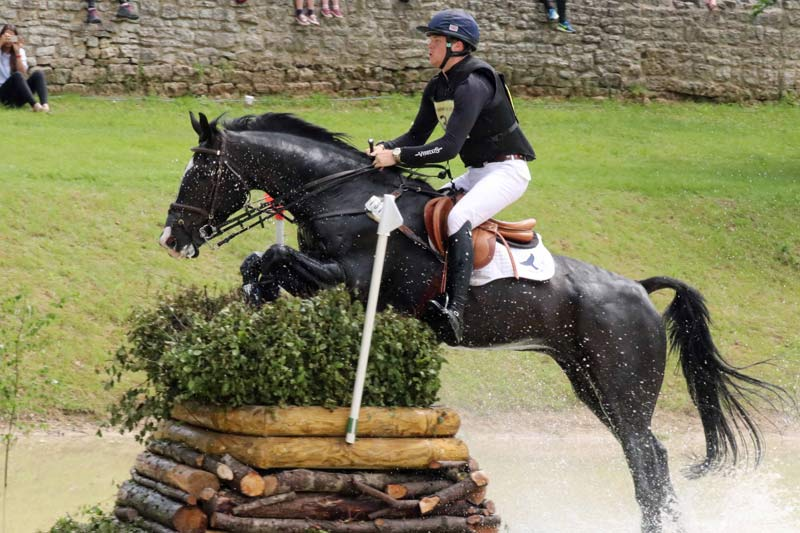 Sam Ecroyd was sixth on Cooley Currency in the under-25 CCI3* at Bramham.