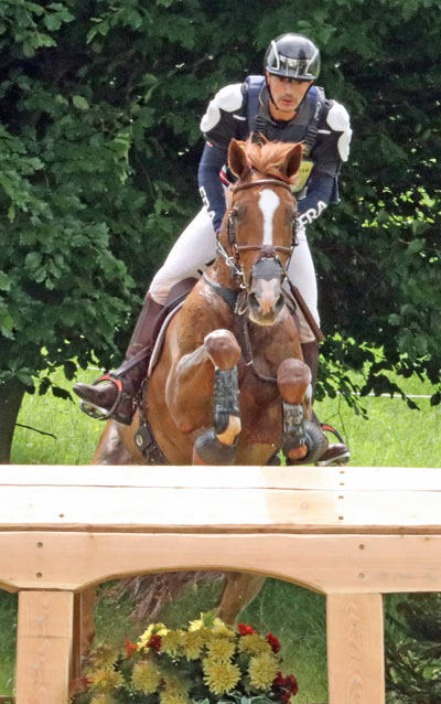 Thibault Fournier and Siniani De Lathus, second in the under-25 CCI3* at Bramham.