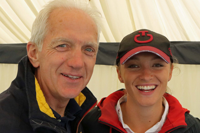 U25 CCI3* winner Emily King with cross-country course designer Ian Stark.