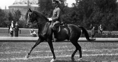 Hermann von Oppeln-Bronikowski on Gimbel, part of Germany's gold medal winning dressage team at the 1936 Berlin Olympic Games.