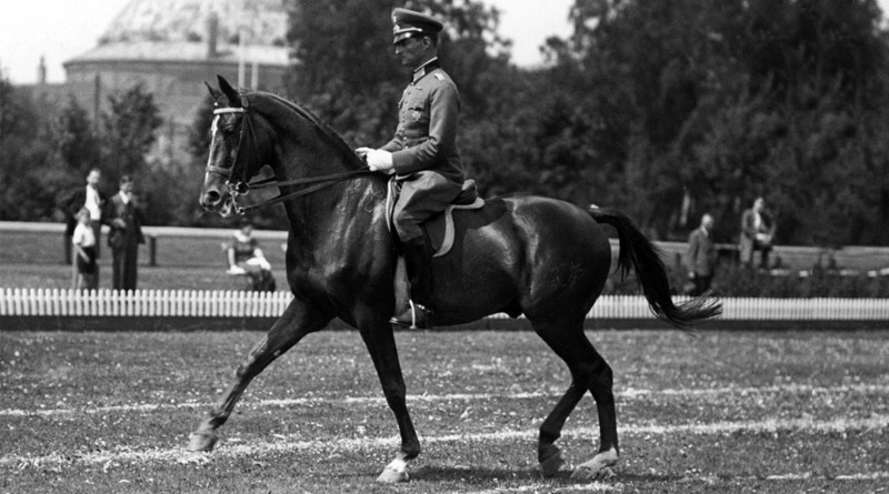 Hermann von Oppeln-Bronikowski on Gimbel, part of Germany's gold medal winning dressage team at the 1936 Berlin Olympic Games.