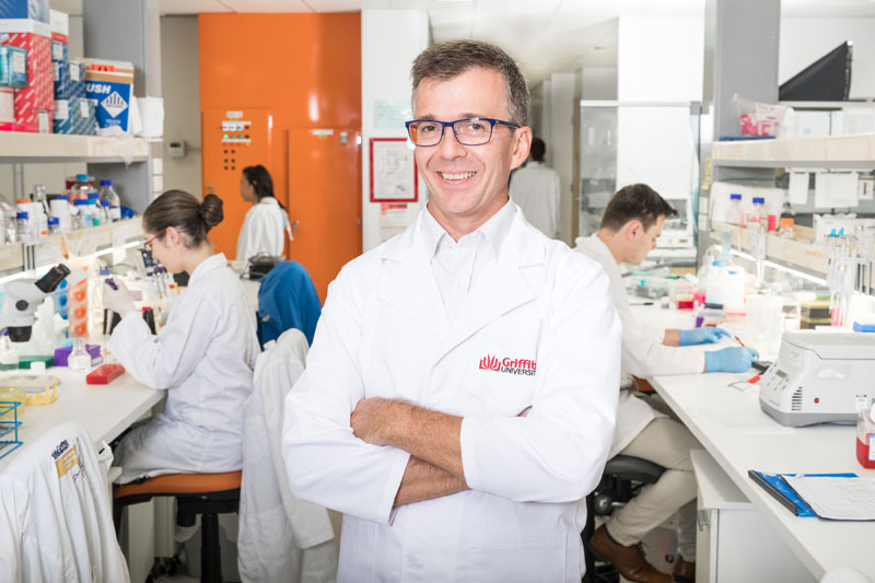 Griffith University Associate Professor James St John, who is leading a research project intospinal cord repair and regeneration.
