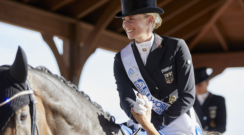 Jessica von Bredow-Werndl and TSF Dalera helped secure the dressage team title for Germany.