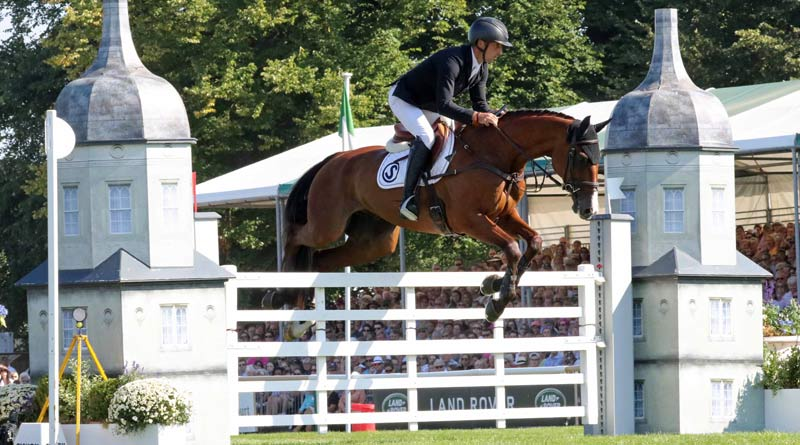 Tim Price and Ringwood Sky Boy stayed clear in the final jumping phase to win the Burghley Horse Trials.