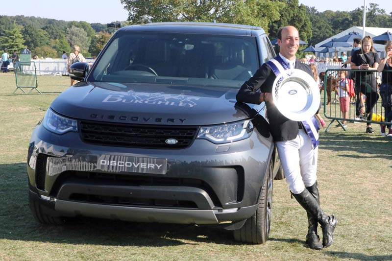 Tim Price and the spoils from Burghley.
