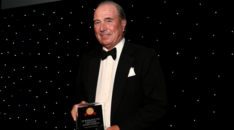 Captain Mark Phillips receives the 2018 Horse & Hound Lifetime Achievement Award.
