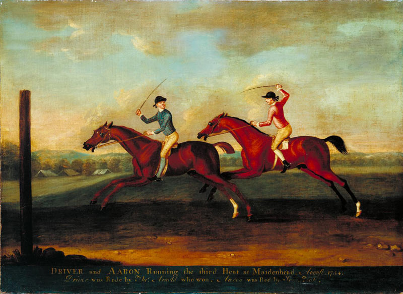 The match between Driver and Aaron at Maidenhead, by Richard Roper (1754).