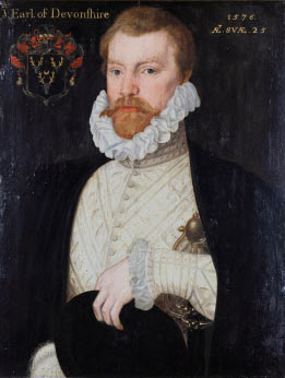 William Cavendish,1st Earl of Devonshire. (British School, 1576).