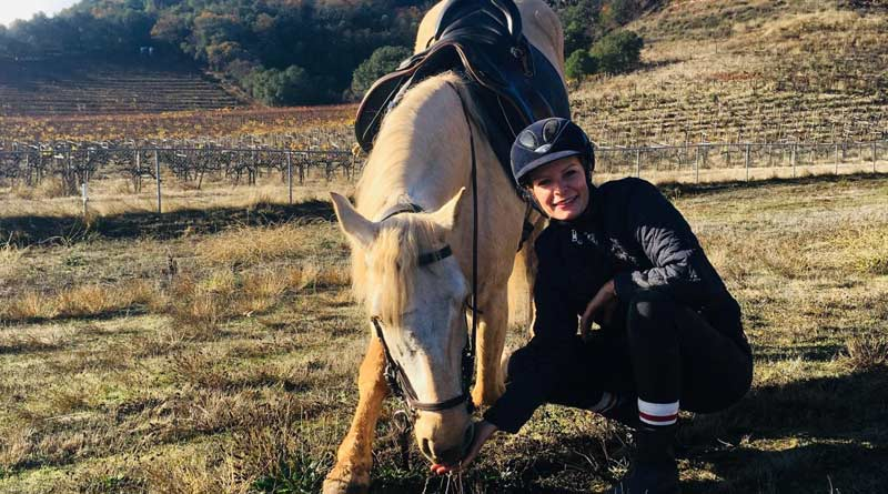 Angela Langen is back to riding Honesto after UC Davis equine surgeons teamed with a physician to remove his sinus tumor.