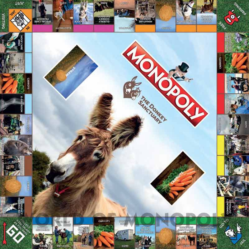 The new Monopoly board game created by The Donkey Sanctuary.