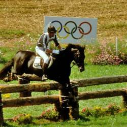 Mark Todd and Charisma winning Olympic gold at Seoul in 1988, following their success at Los Angeles in 1984. © FEI