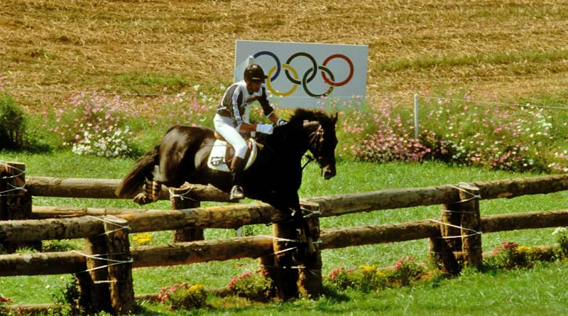 Mark Todd and Charisma winning Olympic gold at Seoul in 1988, following their success at Los Angeles in 1984.