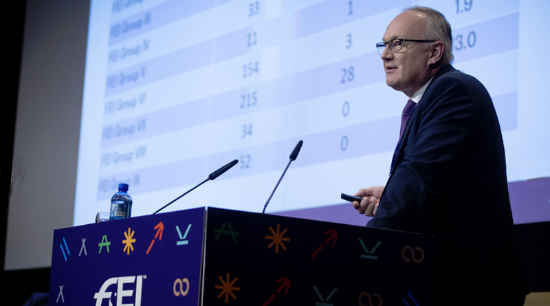 FEI Veterinary Director Göran Ackerström during the session on improvements and innovations to reshape Endurance at the FEI Sports Forum.