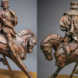 Horse and Rider, the only casting taken directly from the from Leonardo da Vinci's c. 1510 beeswax figure and its original mold, is now in the United States and the historic sculpture will be going up for auction through Guernsey's this fall.