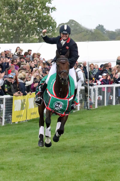 s Mitsubishi Motors Badminton Horse Trials Piggy French claims starting fourth dimension Badminton Horse Trials title