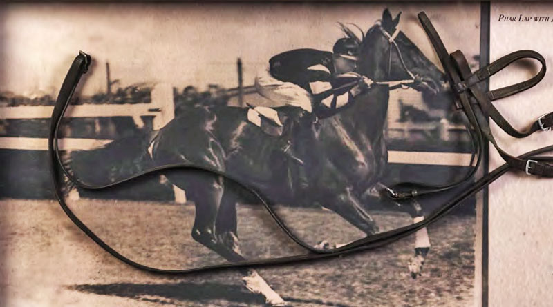 Phar Lap's bridle from the 1930-31 season has sold for $9000 at Auction in Australia.