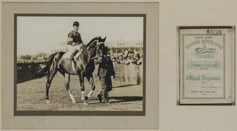 An paradigm of Phar Lap graces the encompass of the Abacus Auctions programme Phar Lap collection going nether the hammer