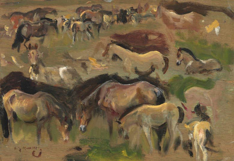 Studies of Exmoor ponies is among the Munnings lots being auctioned by Christies next month.