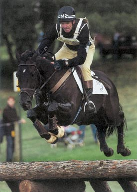 Mark Todd and Broadcast News, individual winners at the 1997 European Eventing Championships.