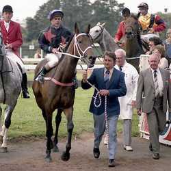 Our Flight after her victory in the 1982 Gr.1 New Zealand Derby (2400m). © NZTM/Race Images