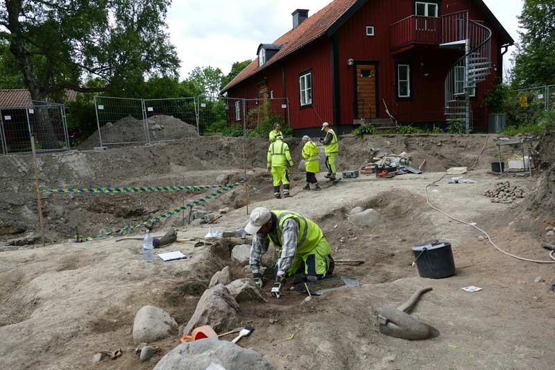 Work continues at the excavation at the vicarage in Old Uppsala, outside the modern-day city of Uppsala in Sweden.