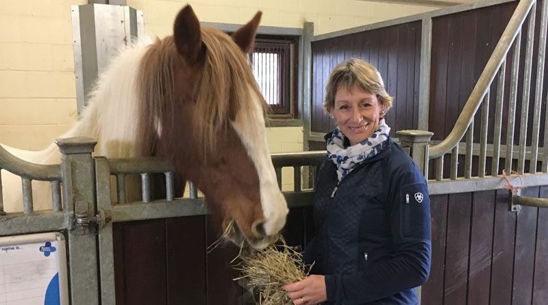Blue Cross ambassador Mary King with Rose, a horse rescued by the charity.