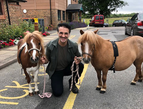 Noel Fitzpatrick with Alan and Dame Maggie and Princess Rose at the Heart of Kent Hospice in Aylesford.