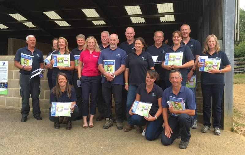 World Horse Welfare Field Officers receive their free worm egg count packs from Claire Shand of Westgate Labs.