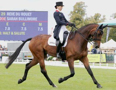 Sarah Bullimore (GBR) on Reve Du Rouet - overnight 2nd equal.