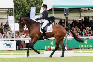 Sarah Bullimore (GBR) on Reve Du Rouet - overnight 2nd equal.