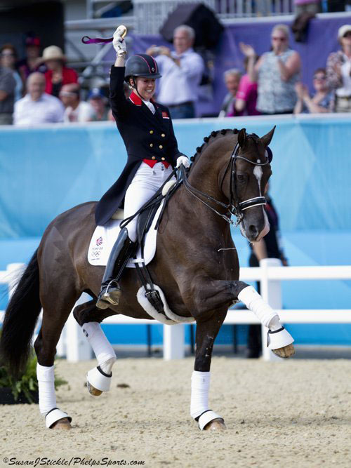 Valegro in action with Charlotte Dujardin.