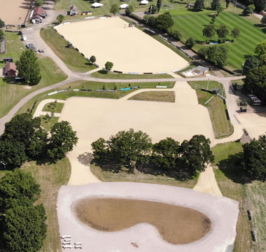 Overview of Hickstead's new eventing training facilities.
