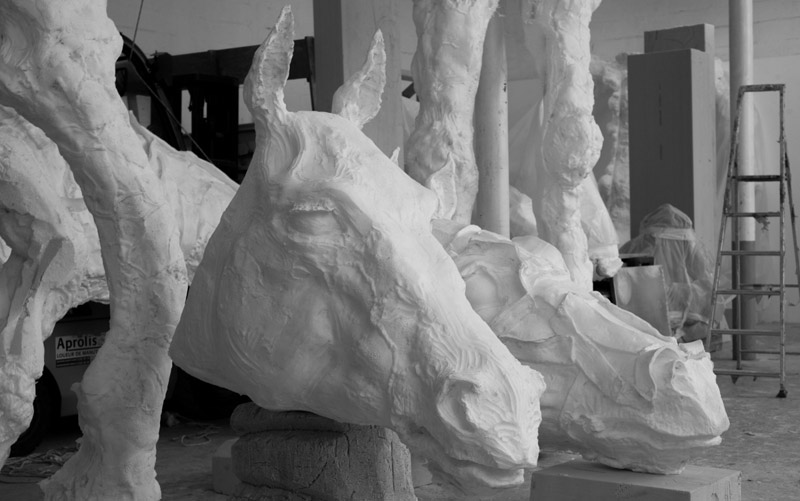 """""""The Horses"""" by Jean-Marie Appriou."""