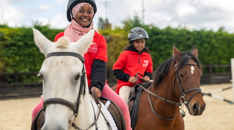 Eight children from The Urban Equestrian Academy, aged from eight to 19, attended the Olympia Riding Academy this week.