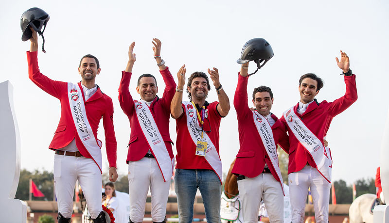 The Egyptian team won the Olympic Jumping qualifier in Morocco and earned one of the two places on offer for the Tokyo 2020 Olympic Games.