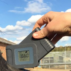 The new HeightLight equine measuring device. © Capaltec