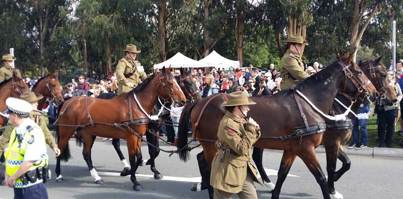 Anzac Day parade in Canberra, 2015.
