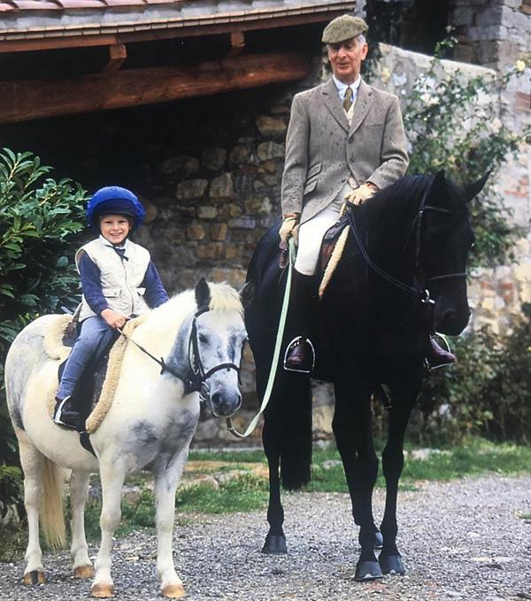 FEI Honorary vice-president Vittorio De Sanctis with his grandson, Vittorio Fabrizio De Sanctis, who is now an eventing rider.