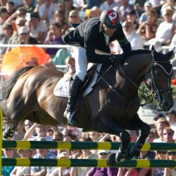 Eric Lamaze and Hickstead at the 2010 Rolex Grand Prix at Aachen. © Kit Houghton