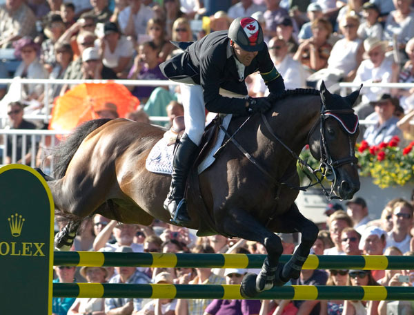 Eric Lamaze and Hickstead at the 2010 Rolex Grand Prix at Aachen.