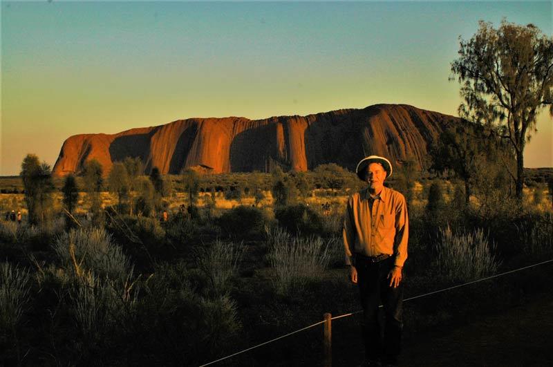 Craig Downer at Uluru in Australia's Northern Territory.
