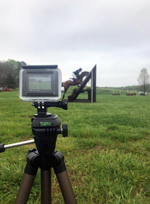 A video camera records the T-oxer at Chattahoochee Hills.