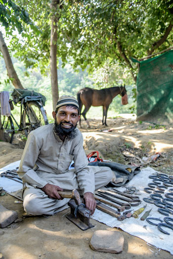 Indian farrier Mohammad Syeed.